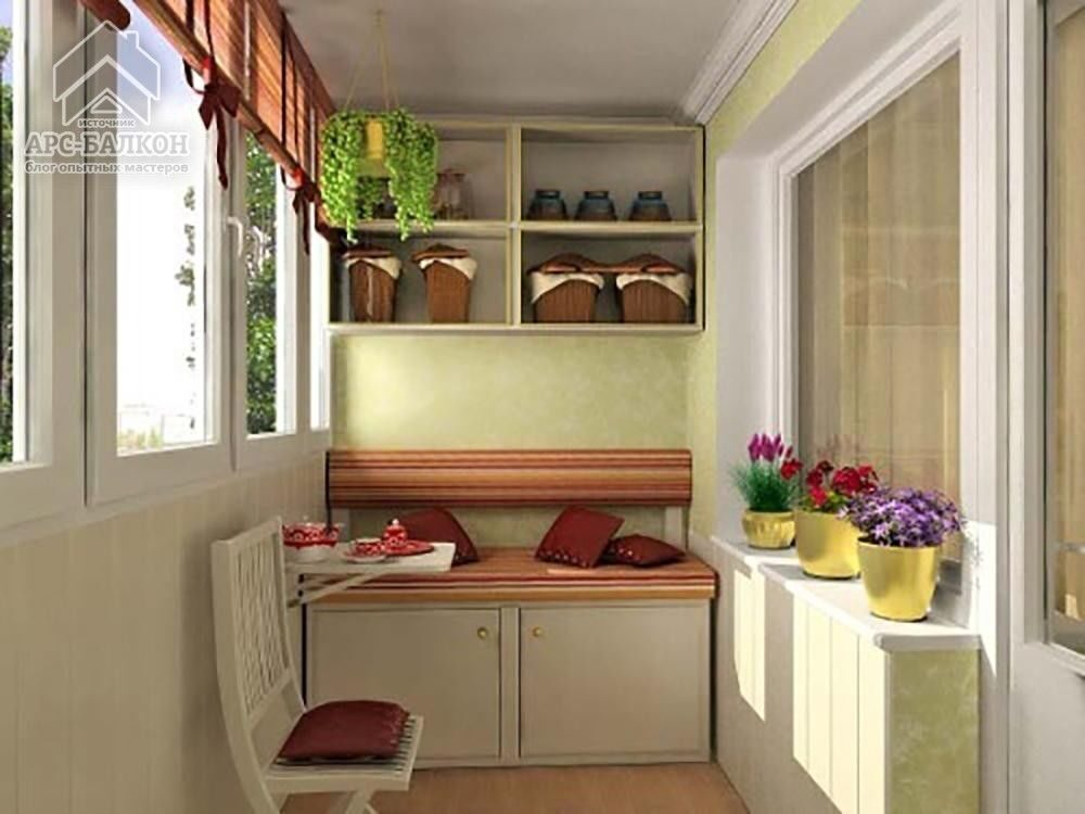 Дизайн маленький балкон.